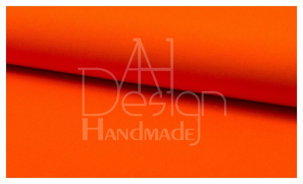 Canvas - Stoff unifarben 100% Baumwolle - Farbe: orange