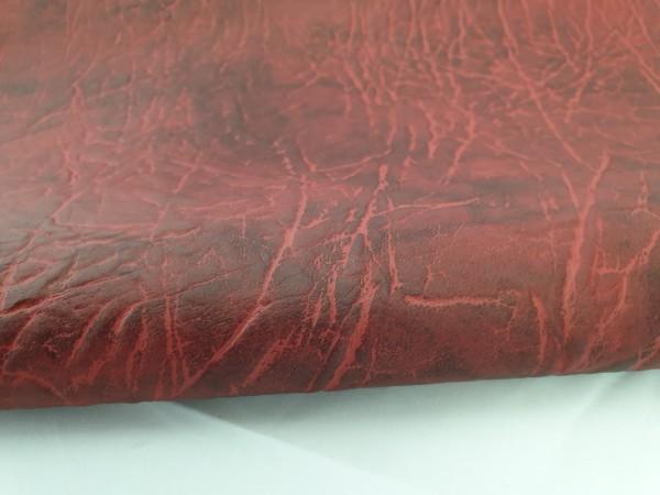 Kunstleder ROCKS - mahagonirot - ca. 140 cm breit - 0,5m