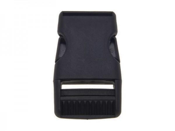Kunststoff- Steckverschluss - 30mm - schwarz