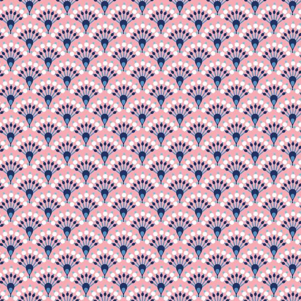 "Baumwoll-Popeline ""Bögen Abstract"" - pink"