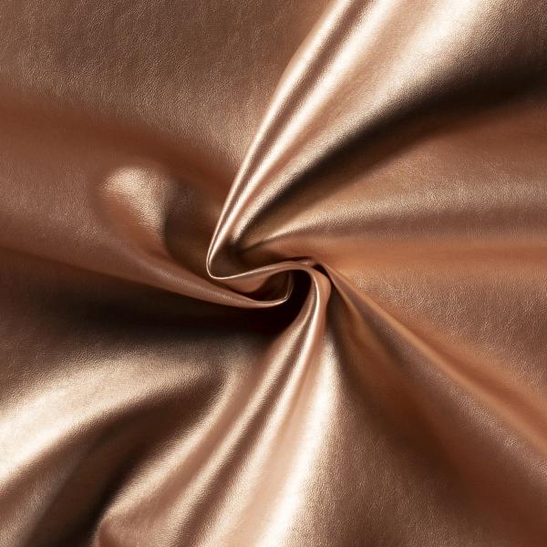 Kunstleder Mila - Farbe rosé-gold metallic - 0,5 Meter