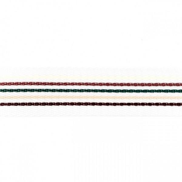 Gurtband - PP - 40 mm - Streifen multicolor - schoko