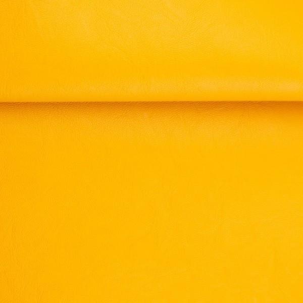 """Kunstleder """"RETRO"""" - gelb - 0,5 m"""