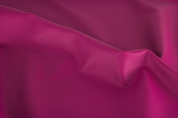 Kunstleder REX - uni pink -0,5 Meter