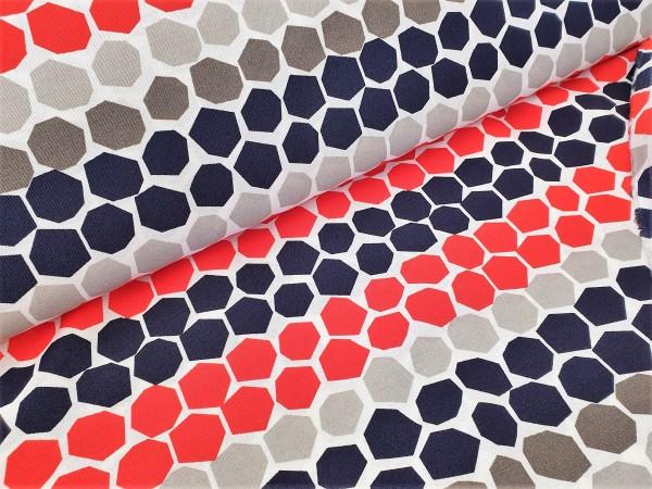 Canvas - Stoff bedruckt - Dekostoff - Hexagon - 150 cm breit - 220g/m²