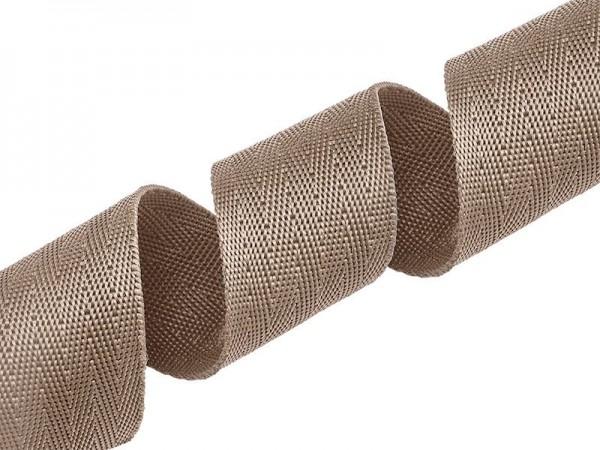 Gurtband - PP - 40 mm - beige - V-Muster