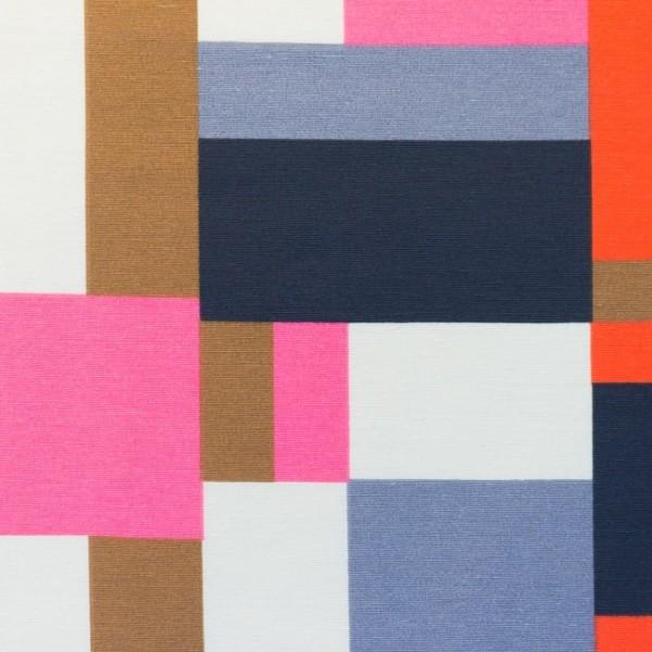 Canvas - Stoff bedruckt - Dekostoff - Quadrate bunt - 150 cm breit - 220g/m²