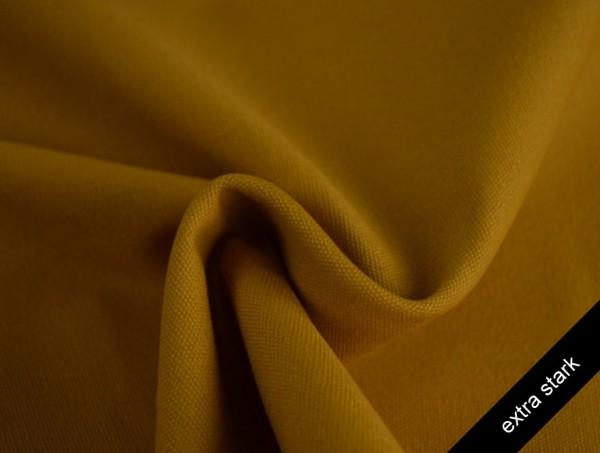 Canvas - Stoff unifarben 100% Baumwolle - extra stark - ocker