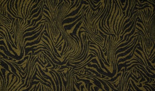 """Lurexstoff """"Zebra"""" - gold/schwarz (Zuschnitt)"""