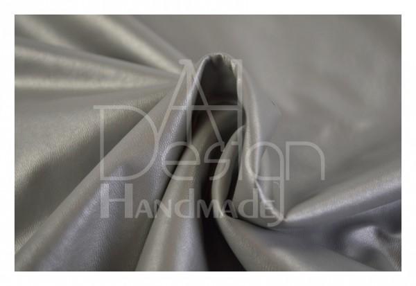 Kunstleder SOFT - weiche Qualität - Farbe: silber-metallic S01