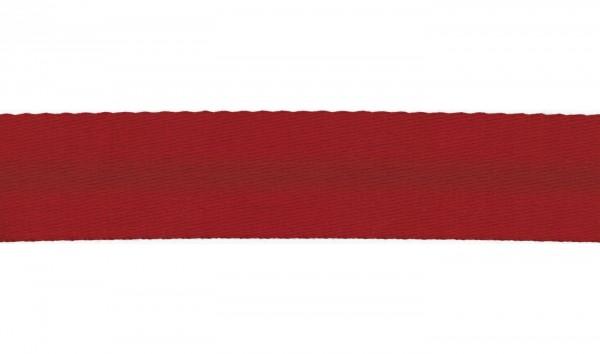 Baumwoll-Gurtband Soft - 40mm - unifarben - rot