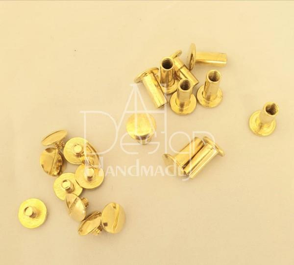 Buchschrauben goldfarben 12mm